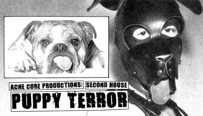 acne core productions second house puppy terror